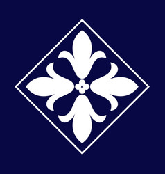 Arabic floral border traditional islamic design vector