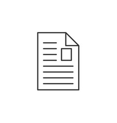 Article file line icon simple modern flat vector