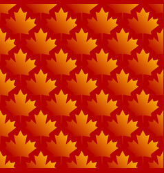 Autumn maple leaves symmetrical seamless pattern vector
