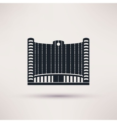 bank building on flat style concept vector image