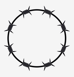 barbed wire circle vector images 58 rh vectorstock com barbed wire vector art free barbed wire vector