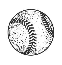 Baseball ball sketch vector