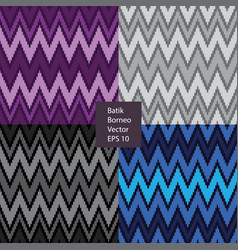 batik borneo seamless pattern vector image