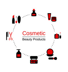 Beauty and makeup infographics beauty and makeup vector