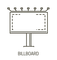 Billboard with lighting icon and outdoor vector