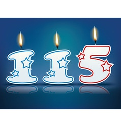 Birthday candle number 115 vector image