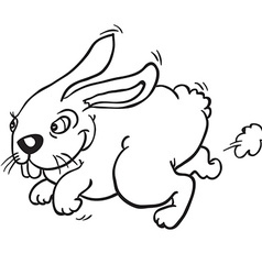 Black and white rabbit vector