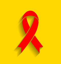 black awareness ribbon sign red icon with vector image