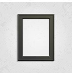 Black modern picture frame vector