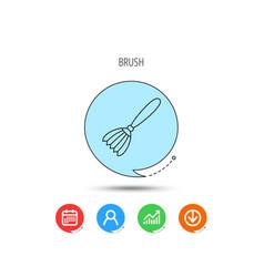 Brush icon paintbrush tool sign vector