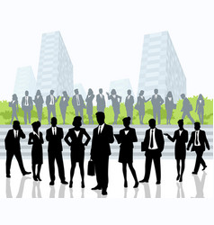 Business people outdoors vector