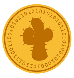 Cacti digital coin vector