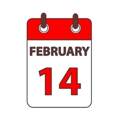 Calendar 14 february vector image