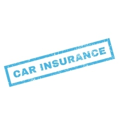 Car Insurance Rubber Stamp vector