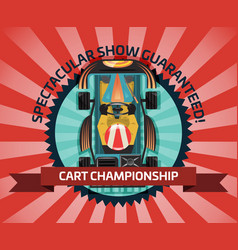 Cart championship or auto competition concept vector