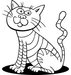 cartoon cat for coloring vector image