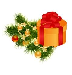 christmas gift box vector image