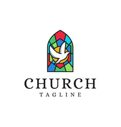 Church christian logo icon on white background vector