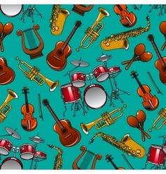 Classical musical instruments seamless pattern vector