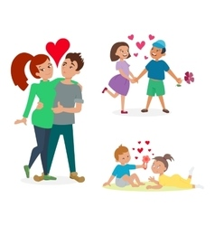 Couple in love set vector image