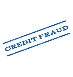 Credit Fraud Watermark Stamp vector image