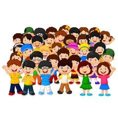 Crowd children vector