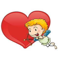 Cupid and heart vector