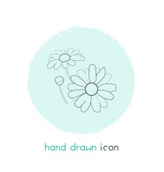 daisy icon line element of vector image