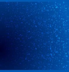 Dark blue shiny bokeh particles background vector