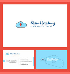 downloading logo design with tagline front and vector image