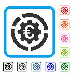 Euro diagram configuration framed icon vector