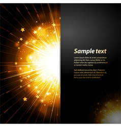 firework starburst panel background with sample vector image vector image