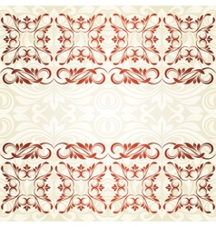Floral border Abstract flower background vector image