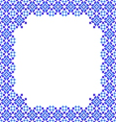 Frame blue patterns on canvas vector