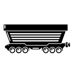 Freight car icon simple style vector