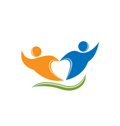Friendship supporting people vector