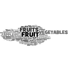 fruits word cloud concept vector image