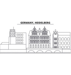 Germany heidelberg line skyline vector