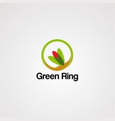 green ring logo icon element and template for vector image