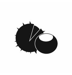 Hazelnuts icon simple style vector