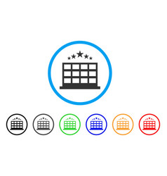 hotel rounded icon vector image