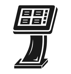 info vending machine icon simple style vector image