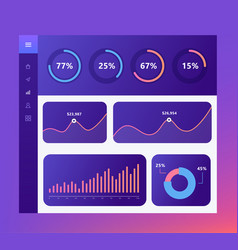 infographic dashboard template with flat design vector image