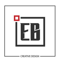 initial letter eb logo template design vector image