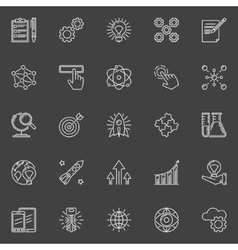 Innovation outline white icons vector