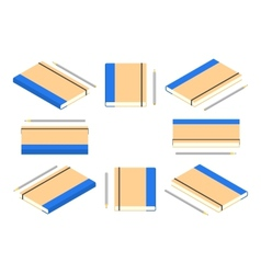 Isometric closed note book with pencil vector