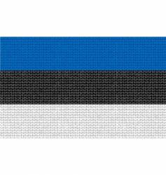 knitted Estonian flag vector image