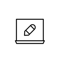 laptop pencil tool icon can be used for web logo vector image