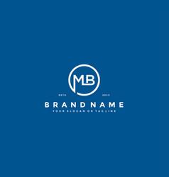Letter mb logo design vector