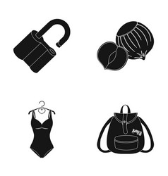 Lock sports and other web icon in black style vector